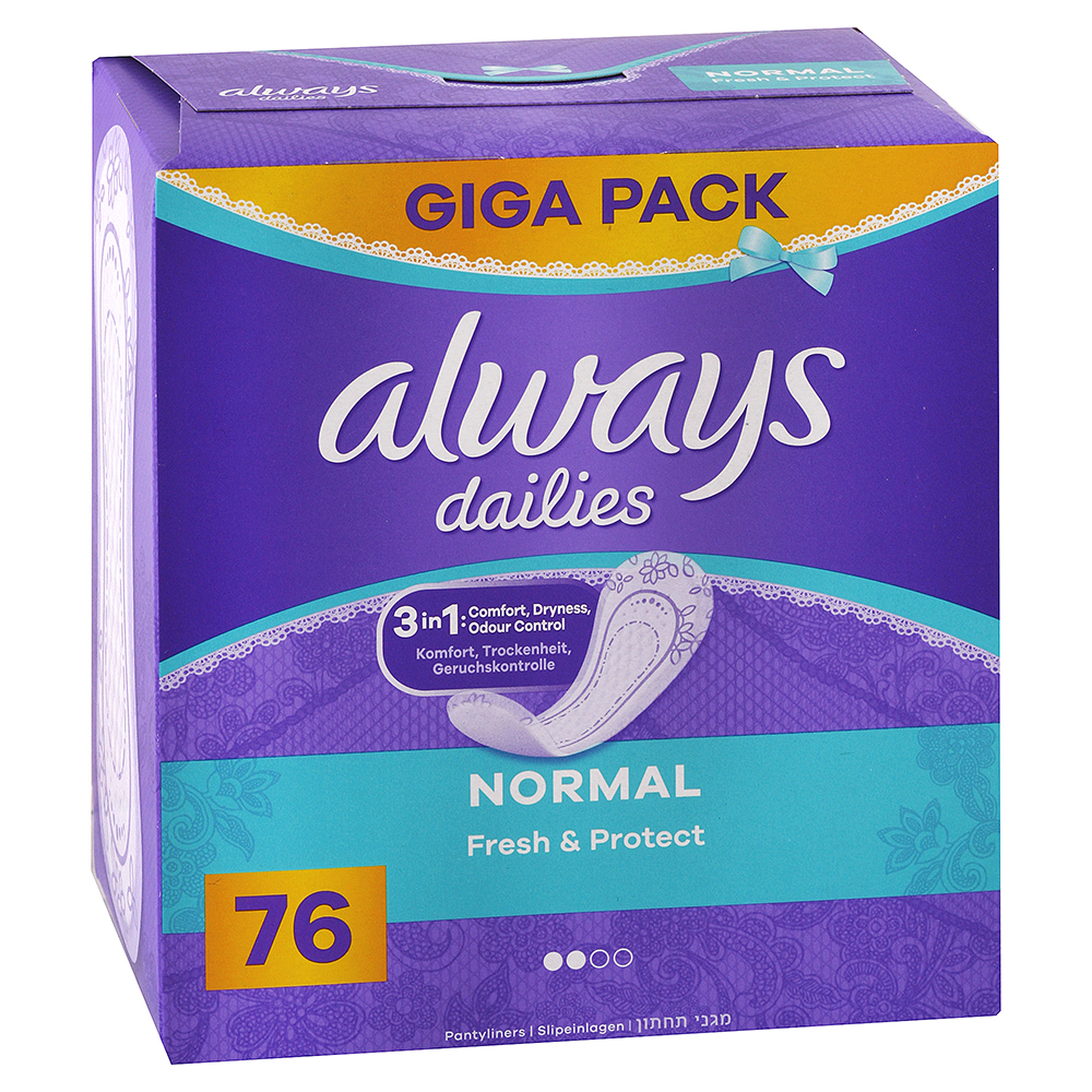 ALWAYS Dailies intímky Fresh & Protect Normal